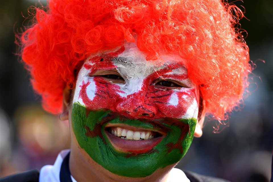13.10.19 - Wales v Uruguay - Rugby World Cup -Wales fans ahead of kick off.