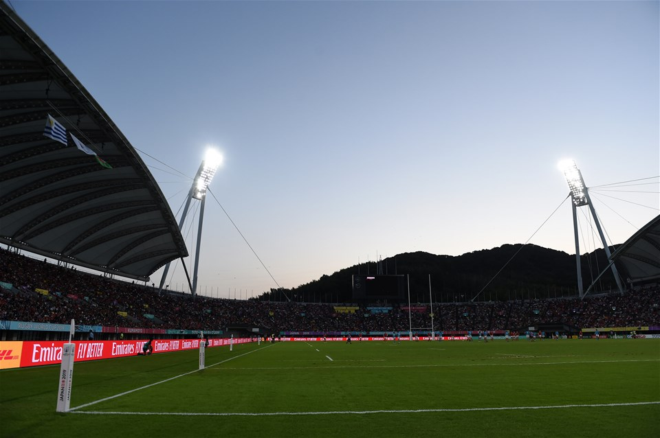 13.10.19 - Wales v Uruguay - Rugby World Cup - Pool D - General View of the Kumamoto Stadium.
