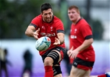 18.10.19 - Wales Rugby Training -Justin Tipuric during training.