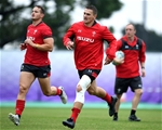 18.10.19 - Wales Rugby Training -Jonathan Davies during training.