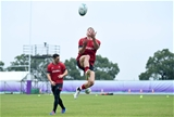 18.10.19 - Wales Rugby Training -Josh Adams during training.
