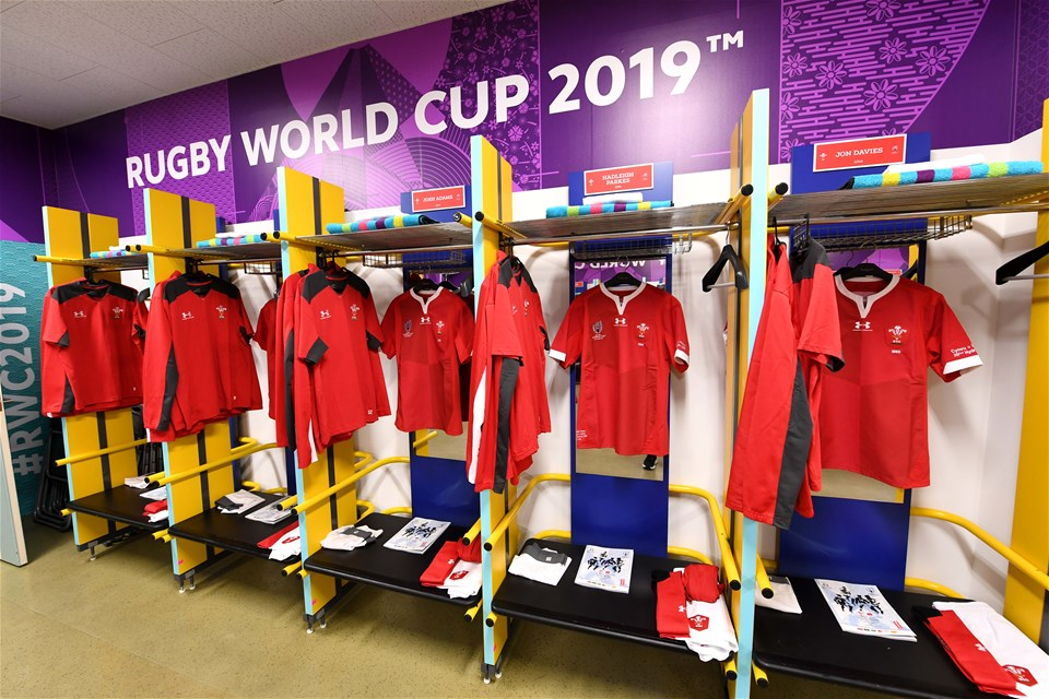 20.10.19 - Wales v France - Rugby World Cup Quarter Final -Wales dressing room.