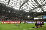 20.10.19 - Wales v France - Rugby World Cup Quarter Final - Wales sing the anthem.