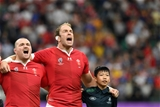 20.10.19 - Wales v France - Rugby World Cup Quarter Final - Ken Owens and Alun Wyn Jones of Wales sing the anthem.