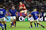 20.10.19 - Wales v France - Rugby World Cup Quarter Final - Liam Williams of Wales gets the high ball.