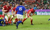 20.10.19 - Wales v France - Rugby World Cup Quarter Final - Justin Tipuric of Wales gathers the ball to make way for Ross Moriarty to score a try.