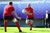 23.10.19 - Wales Rugby Training -Ken Owens during training.