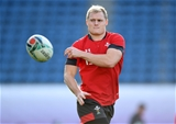 23.10.19 - Wales Rugby Training -Aled Davies during training.