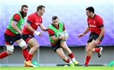 23.10.19 - Wales Rugby Training -Gareth Davies during training.