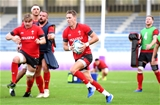 23.10.19 - Wales Rugby Training -Liam Williams during training.