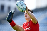 26.10.19 - Wales Rugby Training -Jonathan Davies during training.