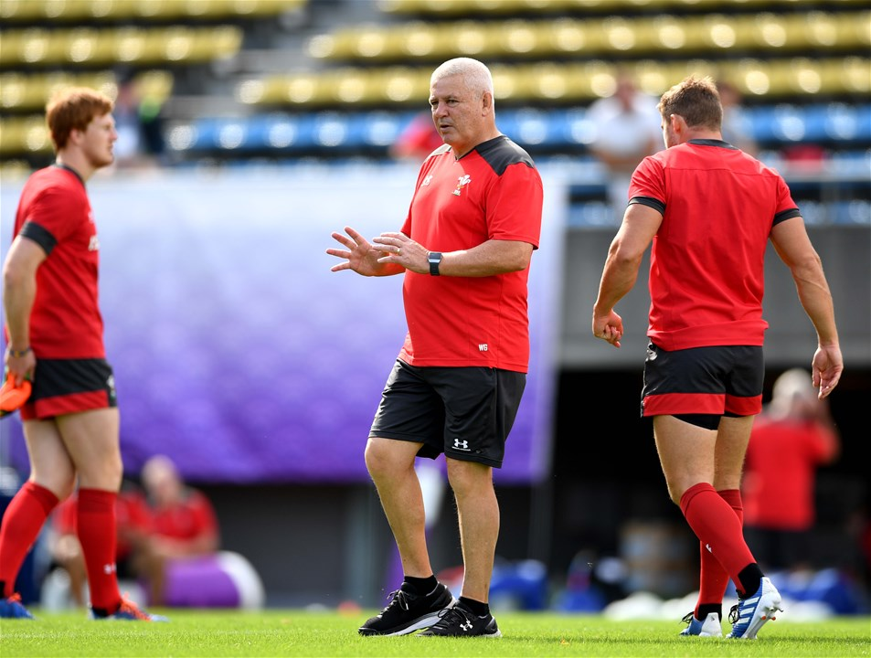 26.10.19 - Wales Rugby Training -Warren Gatland during training.