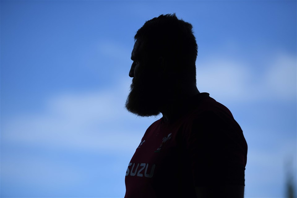 26.10.19 - Wales Rugby Training -Jake Ball during training.