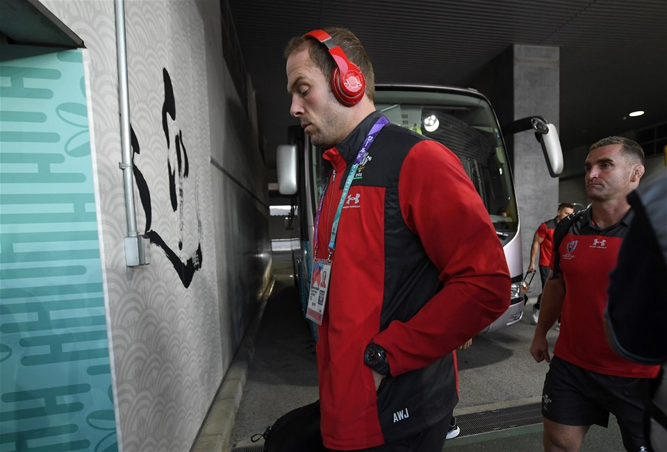 27.10.19 - Wales v South Africa - Rugby World Cup Semi-Final - Alun Wyn Jones of Wales arrives at the stadium.