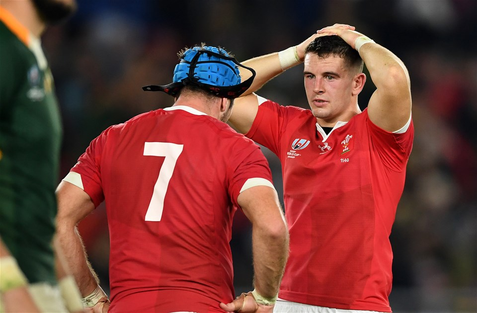 27.10.19 - Wales v South Africa - Rugby World Cup Semi-Final - Dejected Owen Watkin of Wales.