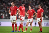 01.11.19 - New Zealand v Wales - Rugby World Cup Bronze Final - A frustrated Alun Wyn Jones, Adam Beard, Tomos Williams and Nicky Smith of Wales.