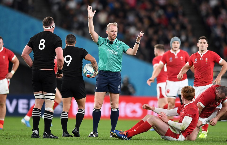 01.11.19 - New Zealand v Wales - Rugby World Cup Bronze Final - Referee Wayne Barnes.