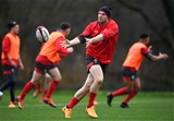 28.11.19 - Wales Rugby Training -Hadleigh Parkes during training.