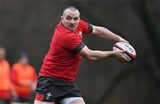 28.11.19 - Wales Rugby Training -Ken Owens during training.