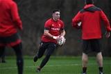 28.11.19 - Wales Rugby Training -Josh Adams during training.