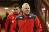 29.11.19 - Wales Captains Run, Principality Stadium -  Wales head coach Wayne Pivac ahead of captain Justin Tipuric make their way to the pitch during Captains Run ahead of their match against the Barbarians