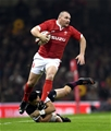 30.11.19 - Wales v Barbarians - International Rugby -Ken Owens of Wales gets away from Shaun Stevenson of Barbarians.