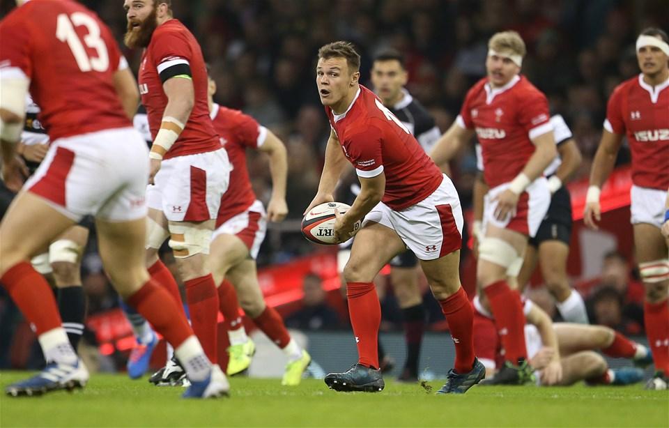 30.11.19 - Wales v Barbarians -  Jarrod Evans of Wales.