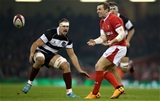 30.11.19 - Wales v Barbarians -  Hadleigh Parkes of Wales.