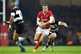 30.11.19 - Wales v Barbarians - International Rugby -Hadleigh Parkes of Wales is tackled by Andre Esterhuizen of Barbarians.