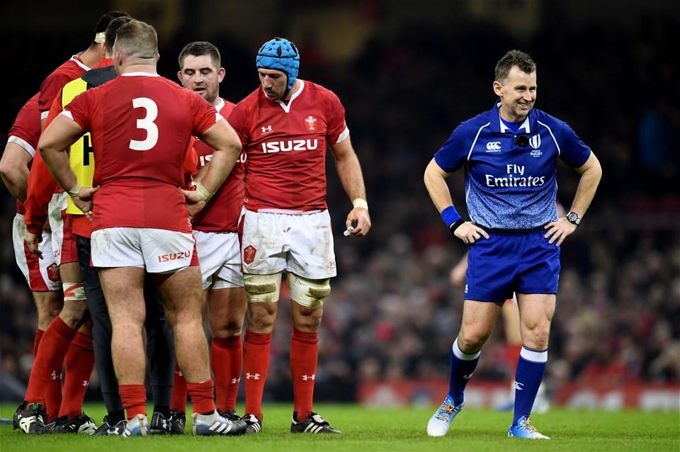 30.11.19 - Wales v Barbarians - International Rugby -Referee Nigel Owens.