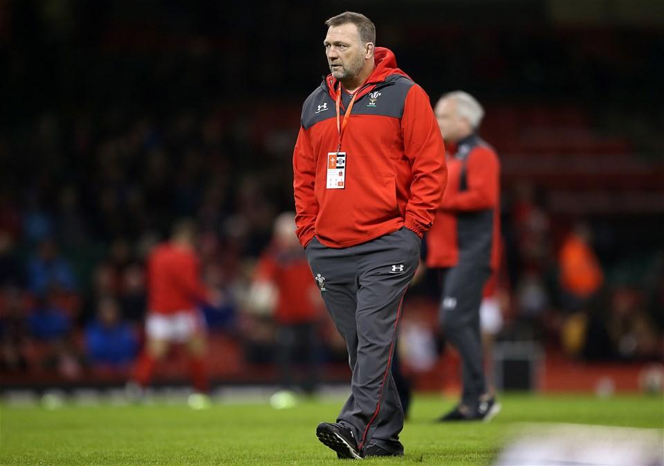30.11.19 - Wales v Barbarians - Wales Coach Jonathan Humphreys