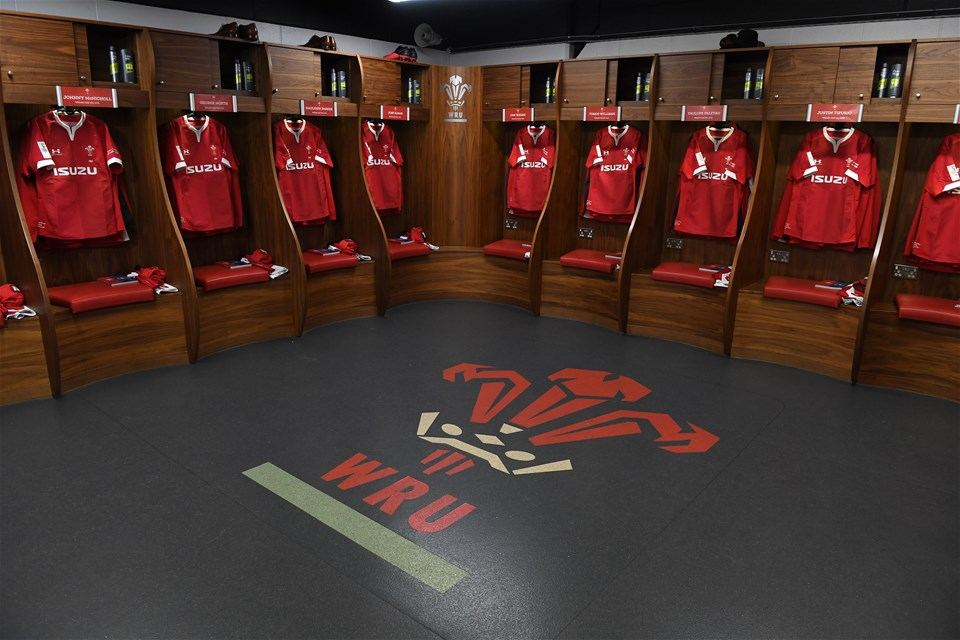 01.02.20 - Wales v Italy - Guinness Six Nations -Wales dressing room