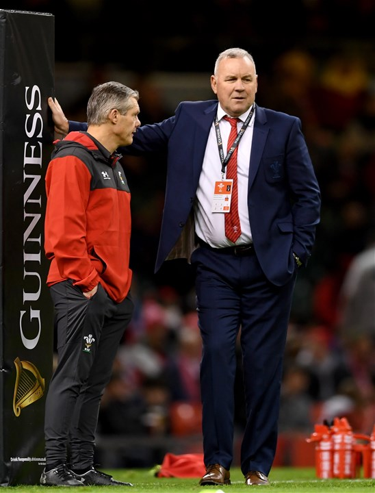 01.02.20 - Wales v Italy - Guinness Six Nations -Byron Hayward and Wales head coach Wayne Pivac before the match