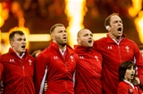 01.02.20 - Wales v Italy - Guinness Six Nations - Players sing the anthems ahead of the game