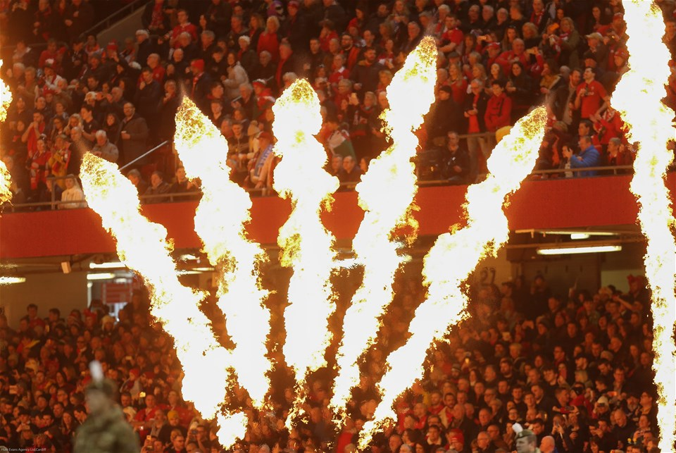 01.02.20 - Wales v Italy, Guinness Six Nations -    Pre match pyrotechnics