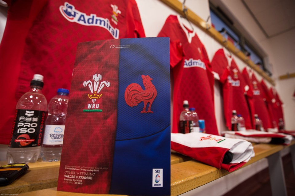 21.02.20 - Wales U20 v France U20, U20 Six Nations Championship - The Wales U20 changing room is set ready for the arrival of the players ahead of the match