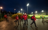 21.02.20 - Wales U20 v France U20, U20 Six Nations Championship - The Wales U20 team arrive at Stadium Zip World ahead of the match