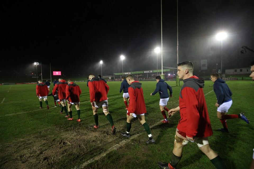 21.02.20 - Wales U20 v France U20, U20 Six Nations Championship 2020 - The teams take to the field