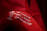 22.02.20 - Wales v France - Guinness Six Nations -Will Rowlands jersey in the dressing room.